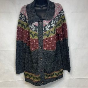 Royal Robbins Button Up Cardigan Sweater, Size XL